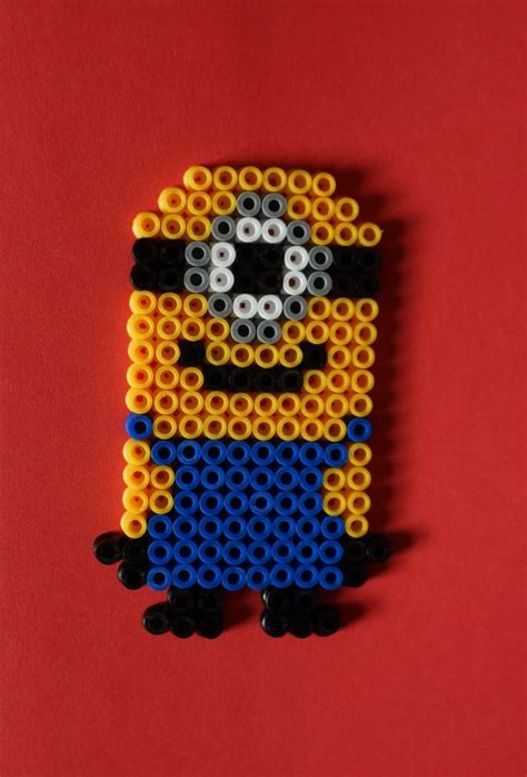 hama bead minion despicable me hama minion