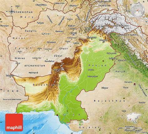 pakistan map satellite physical map of pakistan satellite outside shaded relief sea