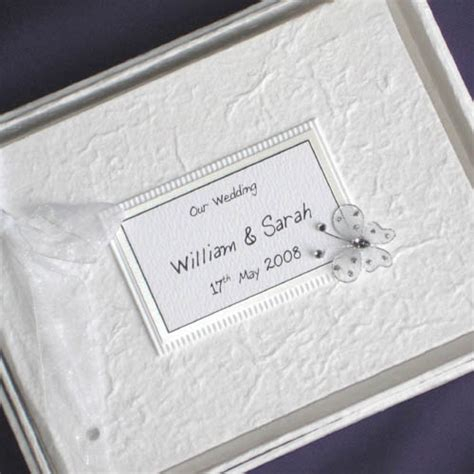 Personalised Wedding Guest Book Handmade - images of wedding guest books butterfly personalised