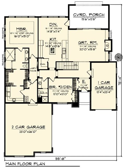 craftsman ranch floor plans country craftsman ranch house plan 73317