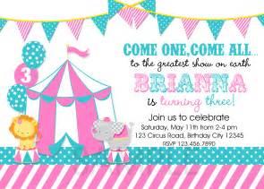 printable birthday invitations circus carnival theme invitation