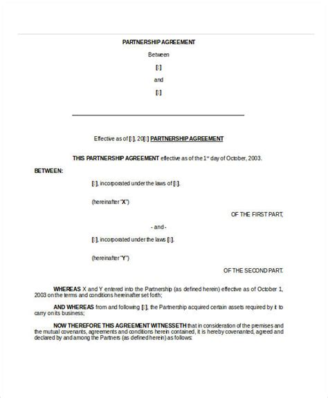 General Partnership Agreement 9 Free Pdf Word Documents Download Free Premium Templates Basic Partnership Agreement Template