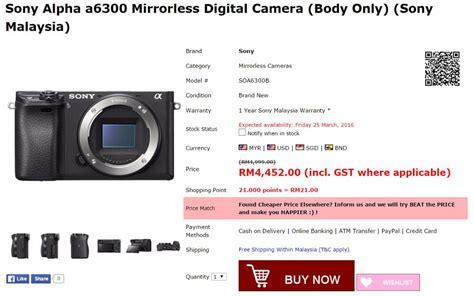 Kamera Sony A6300 Bekas harga sony a6300 mirrorless aps c diumumkan untuk malaysia