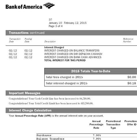 Bank Of America Statement Letter Bank Of America Automatic Credit Line Increase Page 4 Myfico 174 Forums
