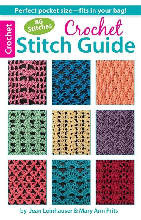 guide to knitting stitches crochet stitch guide leisurearts