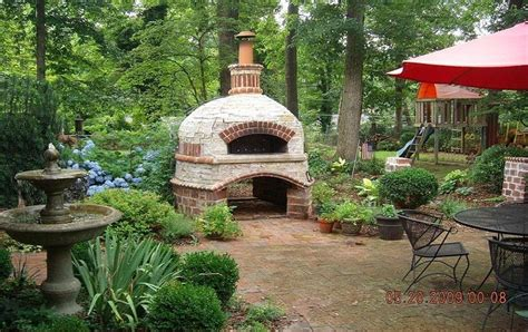 brick oven backyard brick box image outdoor brick oven