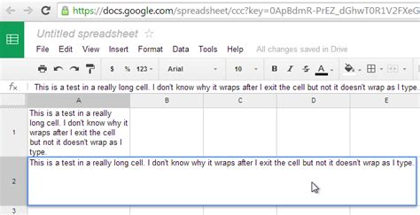 short biography text exle excel google doc spreadsheet doesn t wrap text when