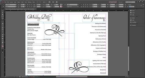 indesign template program wedding program templates wedding programs fast
