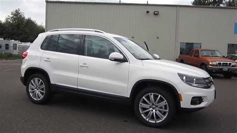 volkswagen tiguan white 2014 volkswagen tiguan candy white stock 109502 youtube