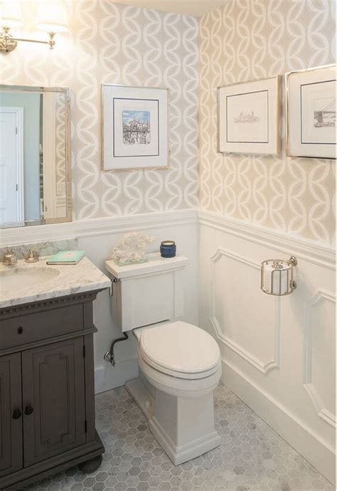 can you put wallpaper in the bathroom wainscoting ideas for your bathroom