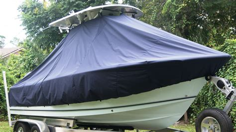 custom sea hunt boat covers ttopcovers t top boat cover elite 9oz fabric for sea