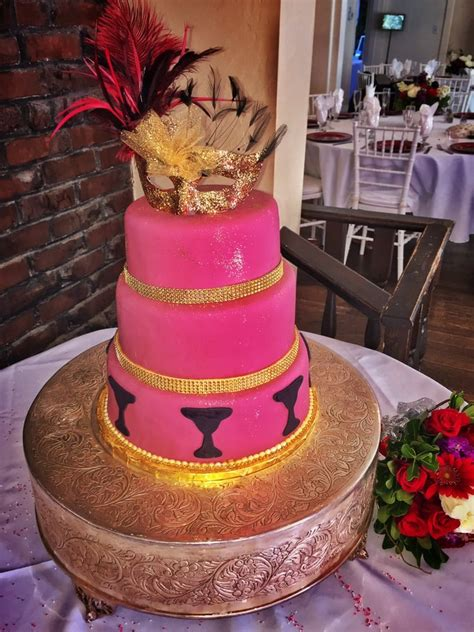 Quinceanera Cakes Near Me by Quincea 241 Era Cake Burgundy And Gold Velvet Cake Yelp