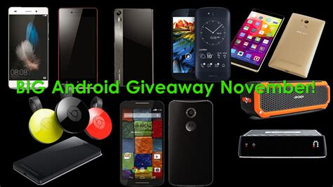 big android giveaway win 7 smartphones worldwide free stuff contests deals - Android Giveaway
