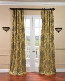 Brown And Gray Curtains Designs Gray Curtain With Yellow White Draper For Glass Windows Beside Brown Wooden Bed With