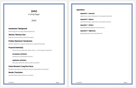 white paper format white paper templates to help you in formatting your white