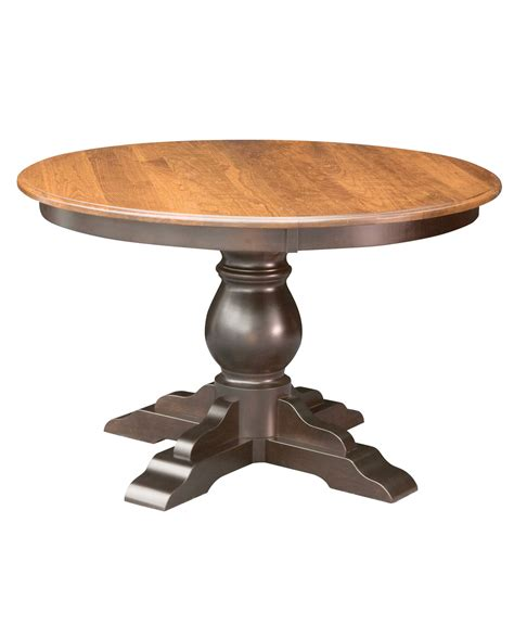 Single Pedestal Dining Table Albany Single Pedestal Dining Table Amish Direct Furniture