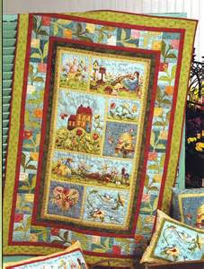 garden song panel quilt kit panel ideas