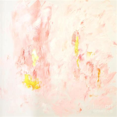 Anthropologie Shower Curtains Pink Gold Abstract Painting Painting By Edit Voros