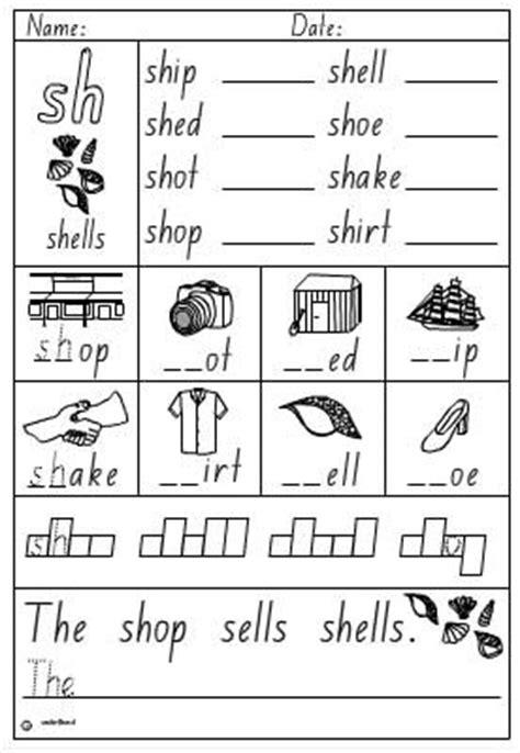 Sh Worksheets by Activity Sheet Digraph Sh Skills