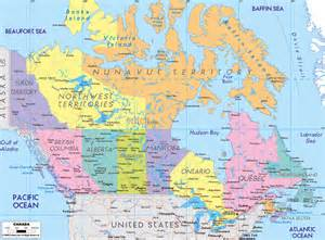 large detailed administrative map of canada canada large