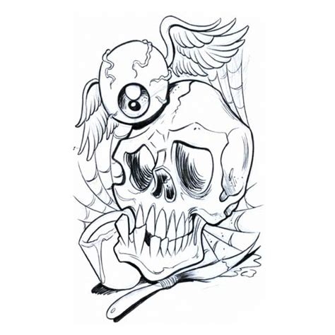 free skull tattoo designs to print free download clip