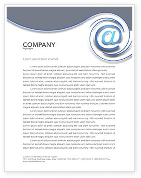 Modern Communication Via Email Letterhead Template Layout For Microsoft Word Adobe Illustrator Email Stationery Templates Free 2