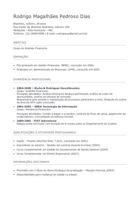 Modelo Curriculum Linkedin Modelo De Curriculum Preenchido
