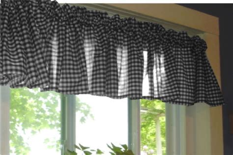 Black Gingham Kitchen/Café Curtain (unlined or with white