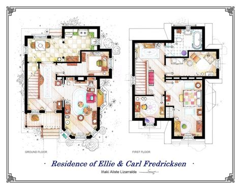 Detailed Floor Plan Drawings Of Popular Tv And Film Homes How Do I Get Building Plans For My House