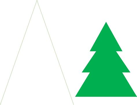 printable paper christmas tree christmas craft idea paper trees