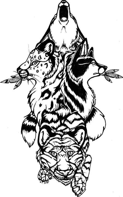 tribal totem pole tattoo designs wolf totem pole drawing