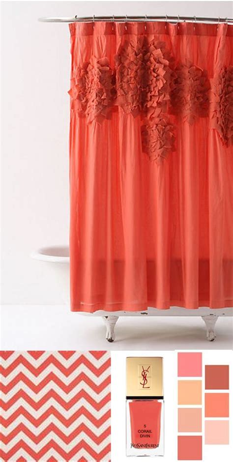 Shower Curtains Coral Colors by 10 Best Images About Shower Curtains On