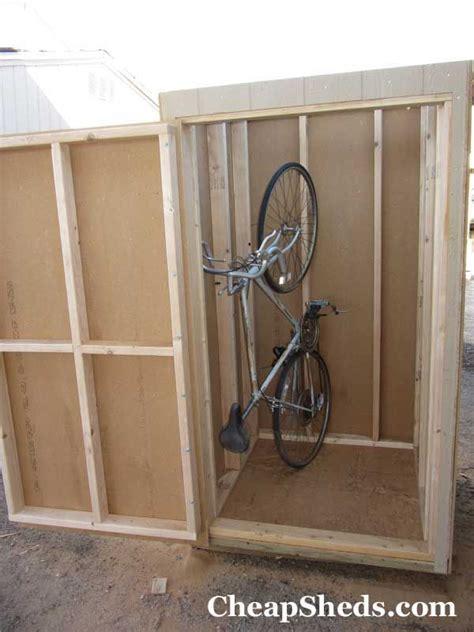 build  compact bike shed   steps bike shed vertical
