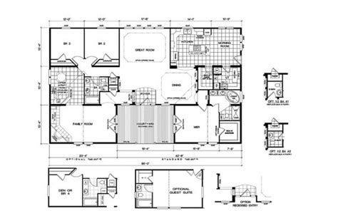 clayton double wide mobile homes floor plans quadruple wide mobile home floor plans 5 bedroom 3