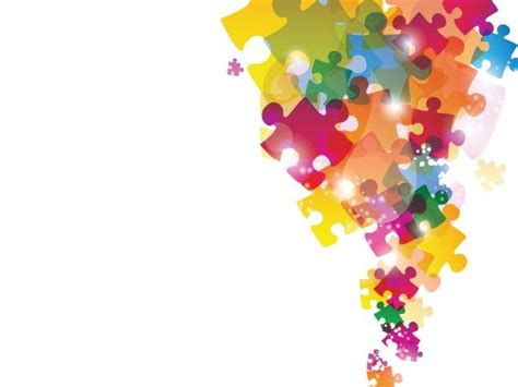 Colorful Puzzles Powerpoint Background Is A Good Choice Colourful Powerpoint Backgrounds