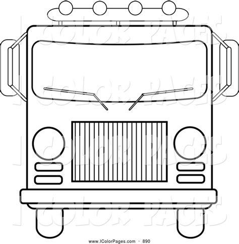 coloring pages rescue vehicles vector coloring page of a front rescue vehicles