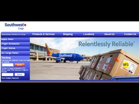 southwest cargo tracking southwest air cargo tracking status