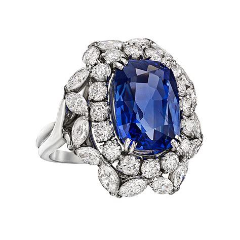 estate harry winston  carat sapphire diamond ring
