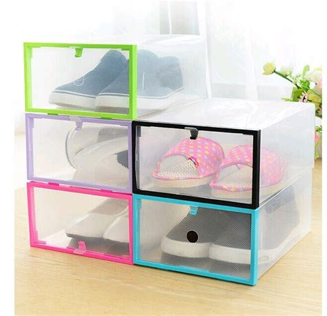 clear shoe storage boxes drawer 1pcs lot simple folding drawer clear shoe storage box