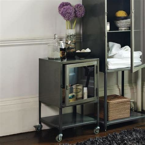 short industrial metal bath cabinet contemporary