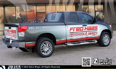 Fred Hass Toyota Fred Haas Toyota Country Car Sales Wrap Zebra Wrap