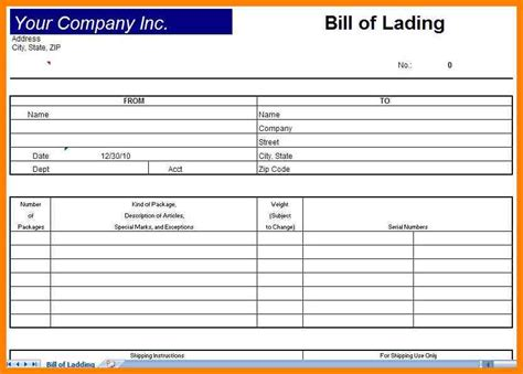 7 blank bill of lading pdf dialysis nurse