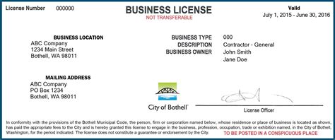 King County Property Tax Search By Address Business License Taxes Fees Bothell Wa