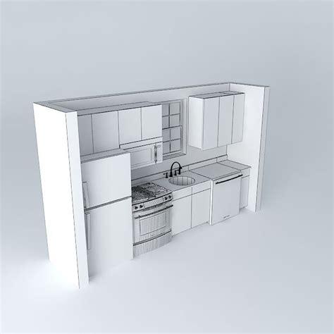 small one wall kitchen free 3d model max obj 3ds fbx stl small one wall kitchen free 3d model max obj 3ds fbx stl