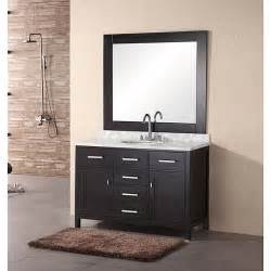 Vanities Bathroom 48 Inch Newport Modern Bathroom Vanity Set With Mirror