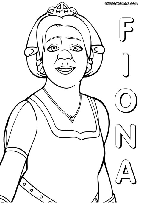 coloring pages of princess fiona shrek coloring pages coloring pages to and print