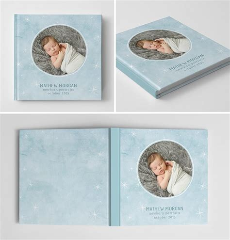 baby album templates for photographers newborn book album cover template sweet dreams