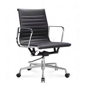 Office Chair For Lower Back Uk Eames Black Leather Office Chair Modecor Furnitures