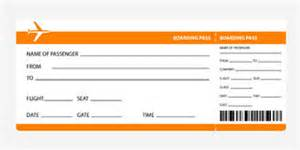 Pretend Plane Ticket Template by Blank Airline Boarding Pass Ticket Stock Photos Images