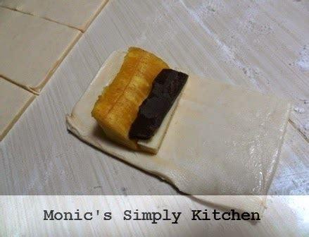 cara membuat zip n roll edisi pastry instan banana roll monic s simply kitchen
